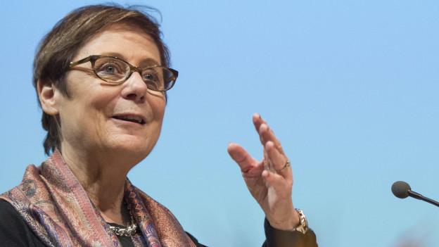 Auf dem Bild ist Martine Brunschwig Graf zu sehen, die Präsidentin der Eidgenössischen Kommission gegen Rassismus.