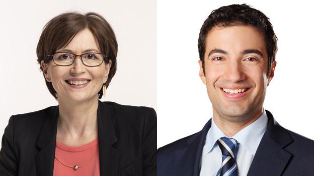Regula Rytz von den Grünen und Andrea Caroni von der FDP diskutieren im Tagesgespräch.