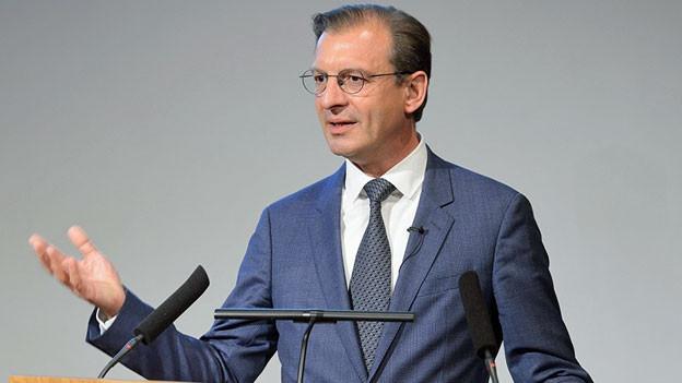 Der Vorsitzende des Dachverbands Scienceindustries und Chef von Novartis Schweiz, Matthias Leuenberger.