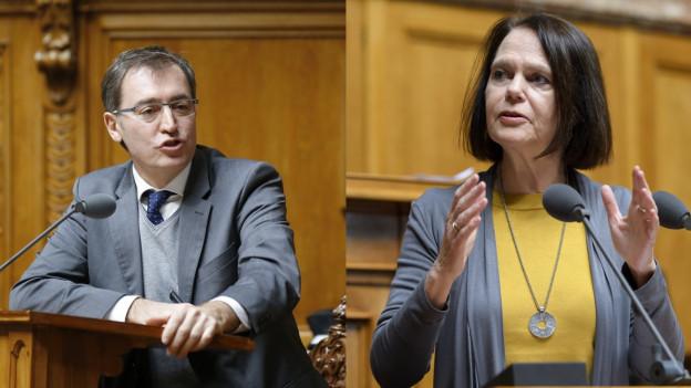 Nationalrat Ronald Büchel und Nationalrätin Claudia Friedl