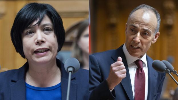 SP-Nationalrätin Min Li Marti und FDP-Nationalrat Rocco Cattaneo
