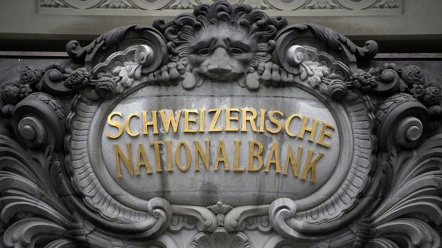 Das Logo der schweizerischen Nationalbank.
