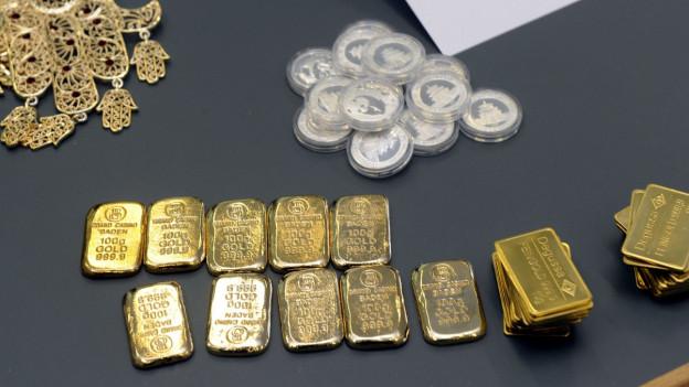 Beschlagnahmtes Gold
