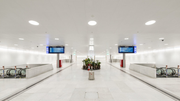 Leere Halle im Zürcher Hauptbahnhof.