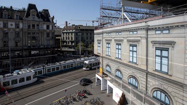 Bauarbeiten am Südtrakt des Hauptbahnhofs Zürich.