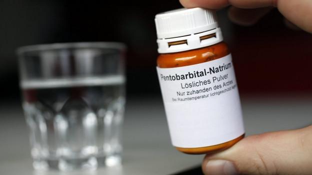 Das Schlafmittel Pentobarbital, das Sterbewillige einnehmen.