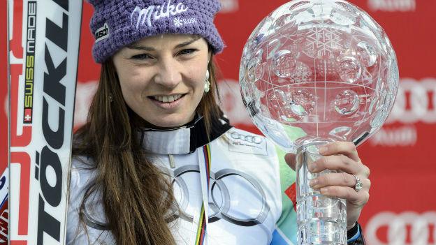 Tina Maze gewinnt fast alles. Auf Schweizer Skis