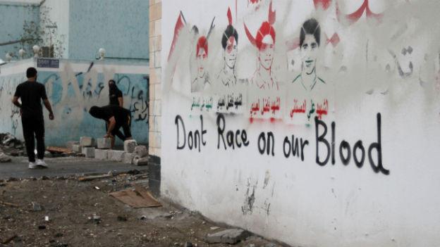 Opposition in Bahrain protestiert gegen das Formel-1-Rennen.
