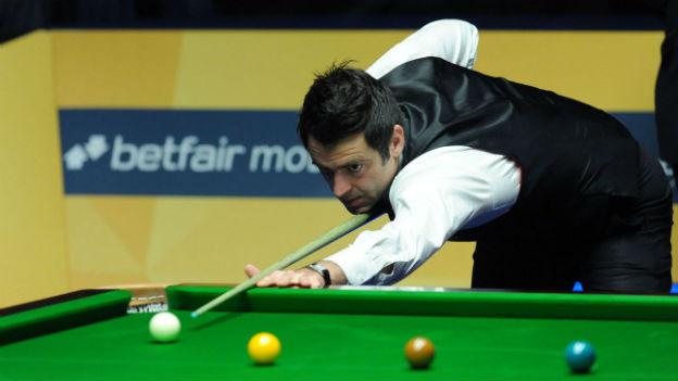 Ronnie O'Sullivan beim Finalspiel an den Weltmeisterschaften in Sheffield.