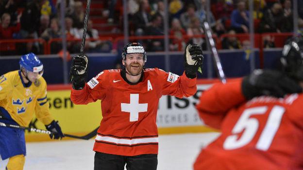 Die Schweizer Nati an der Eishockey WM in Schweden.