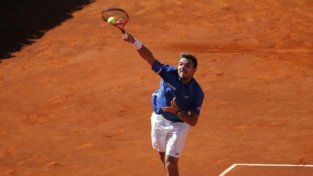 Stanislas Wawrinka in Madrid im Final gegen Rafael Nadal.