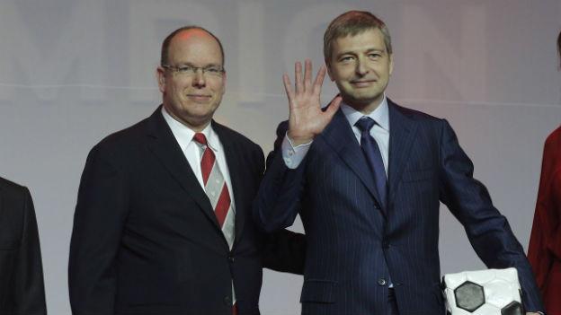 Prinz Albert (links) und Dimitri Rybolowlew, Präsident der AS Monaco