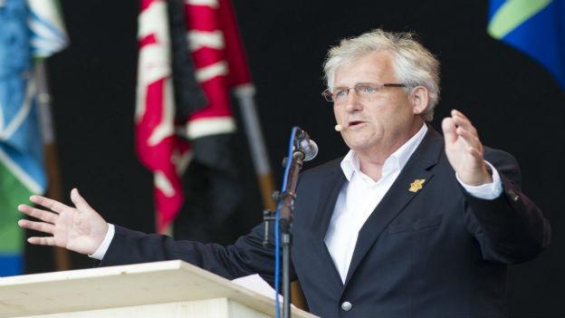 OK-Präsident Hans Stöckli beim Abschiedsfest