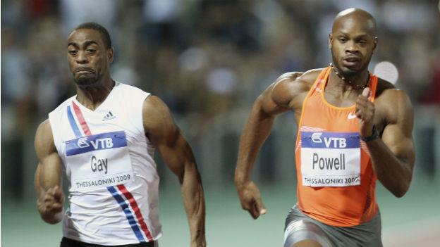 Stehen unter Dopingverdacht: Die Sprinter Tyson Gay und Asafa Powell.