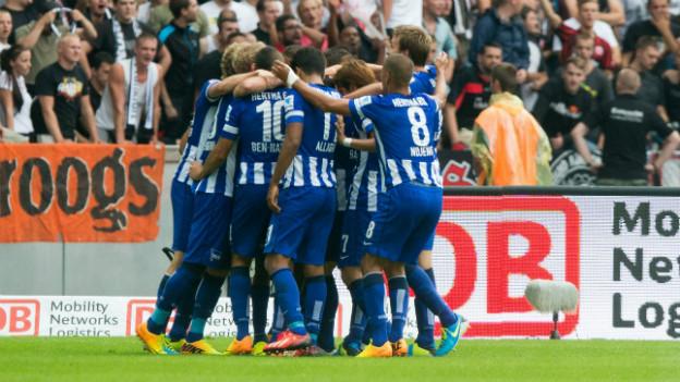 Aufsteiger Hertha BSC gewann das Auftaktspiel gegen Eintracht Frankfurt.