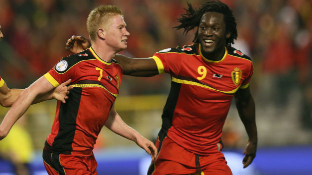 Belgien für die WM qualifiziert: Kevin de Bruyne (l.); Romelu Lukaku.
