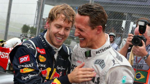 Sebastian Vettel und Michael Schumacher