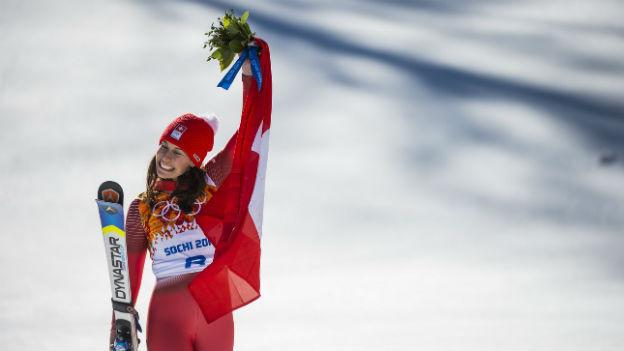 Dominique Gisin gewinnt Olympia Gold.