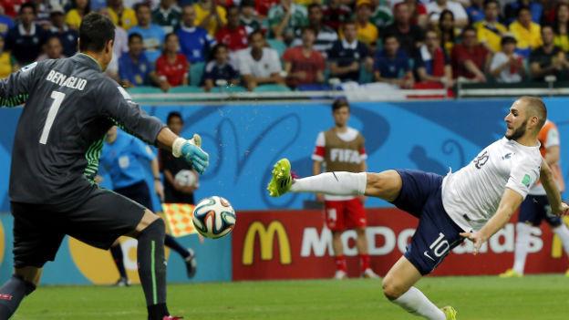 Offensivspektakel: Frankreichs Karim Benzema im WM-Spiel gegen die Schweiz (20.6.2014).