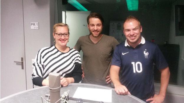 """""""O terceiro tempo"""" mit Aline Trede, Moderator Lorenzo Bonati und Brian Ruchti."""