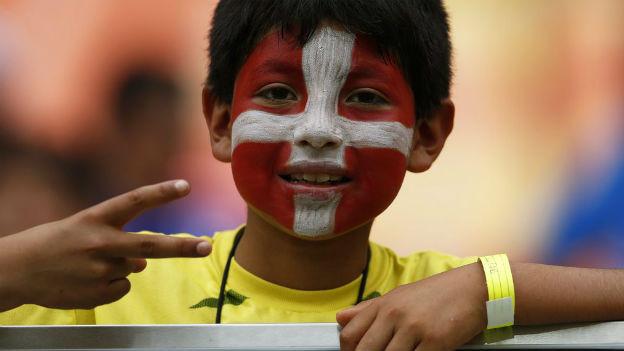 Brasilianische Unterstützung für die Schweizer Fussballer.