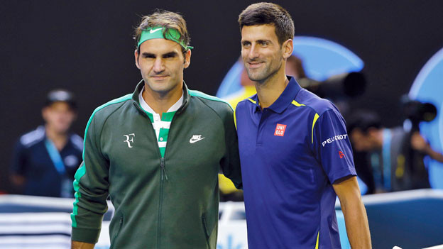 Roger Federer und Novak Djokovic vor dem Halbfinal am Australian Open.