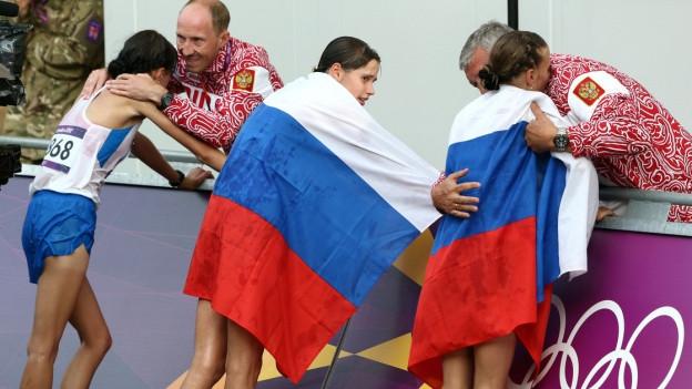 Da waren sie noch dabei: Russische Athletinnen bei den Olympischen Spielen in London 2012.