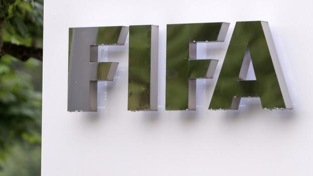 Schriftzug am FIFA-Hauptsitz in Zürich