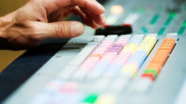 Mischpult im Radiostudio Zürich