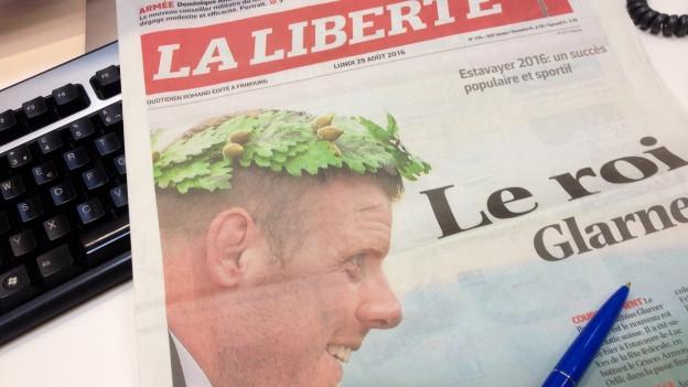 Die Freiburger Zeitung «La Liberté» widmet dem Schwingfest sechs Sonderseiten.