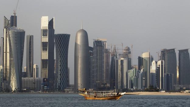 Blick auf die Skyline von Katar.