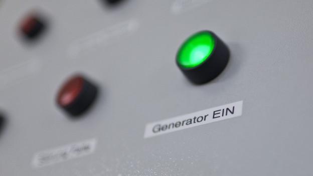"""Schrift """"Generator ein"""""""