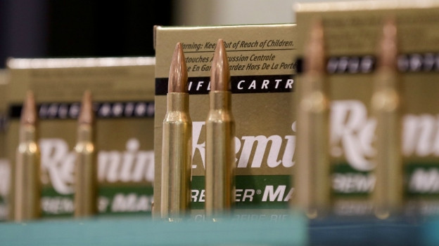 Auf dem Bild sind Patronen des US-Herstellers Remington zu sehen.