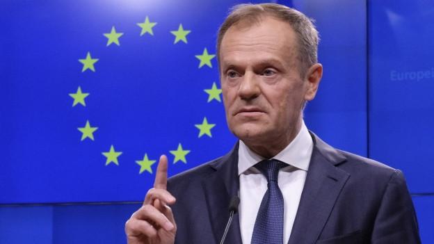 EU-Ratspräsident Donald Tusk zeigte sich auf Twitter offen für eine mögliche Verschiebung des Brexits.