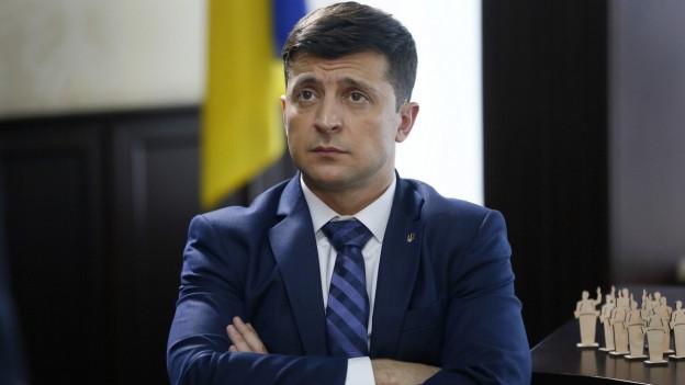 Der Komiker Wladimir Selenski hat gute Chancen der neue ukrainische Präsident zu werden.