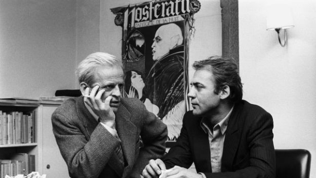 """""""Nosferatu"""" 1979 in Zuerich: Bruno Ganz mit Klaus Kinski."""