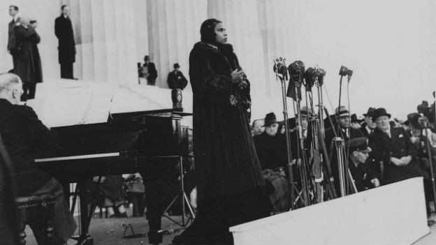 Die schwarze Sängerin Marian Anderson.