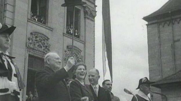 Churchill spricht 1946 in Zürich