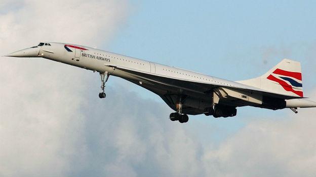 Die Concorde auf ihrem letzten Flug