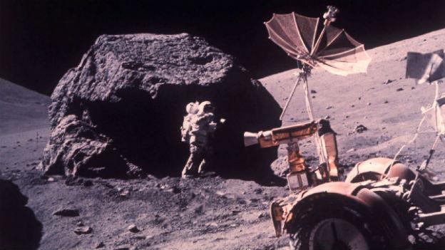 Die Crew von Apollo 17 brachte über 100 kg Mondgestein zur Erde zurück.