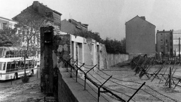 Die Berliner Maurer - nach ihrem Bau wurden Tausende DRR-Bürger umgesiedelt.