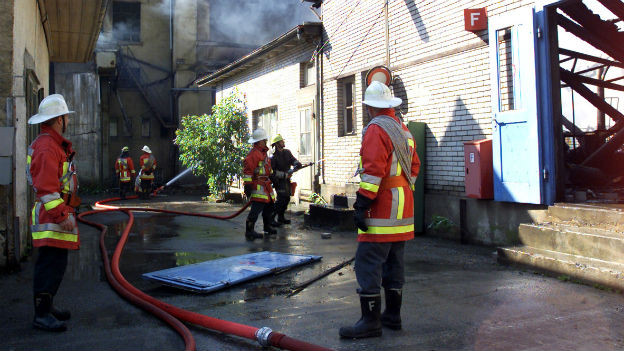 Fabrikareal in Roggwil steht in Brand