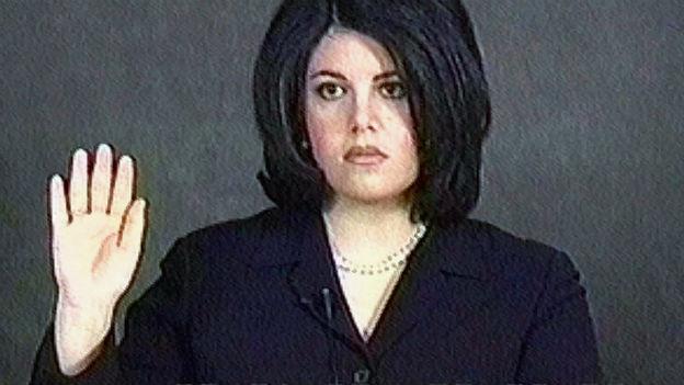 Monica Lewinsky im Amtsenthebungsverfahren gegen Clinton