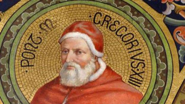 Papst Gregor XIII, der einen neuen Kalender definiert hat