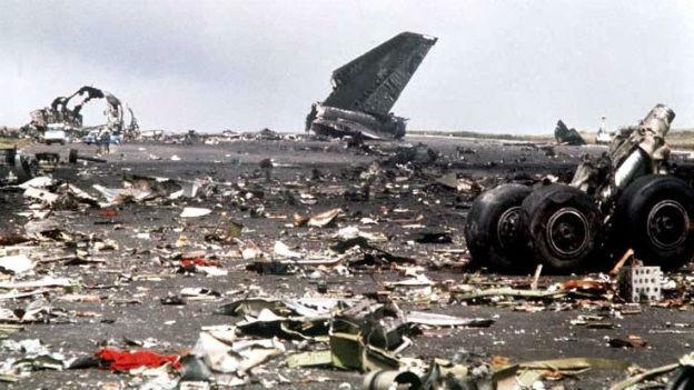 Zerstörter Jumbo Jet in Teneriffa, 1977