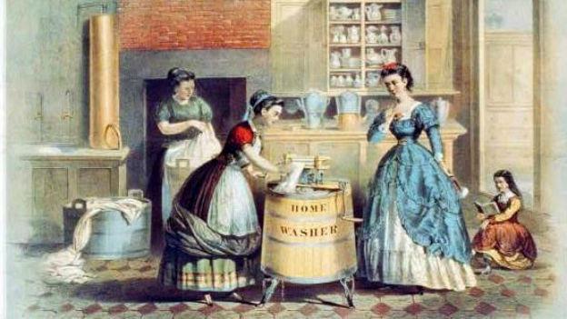 Eine der ersten Waschmaschinen in den USA