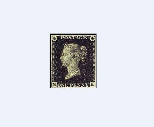 Premiere in der Briefpost: Erste Briefmarke der Welt.