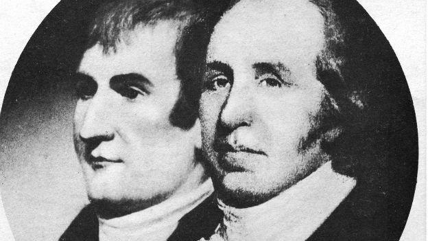 Erkundeten die USA: Meriwether Lewis und William Clark.