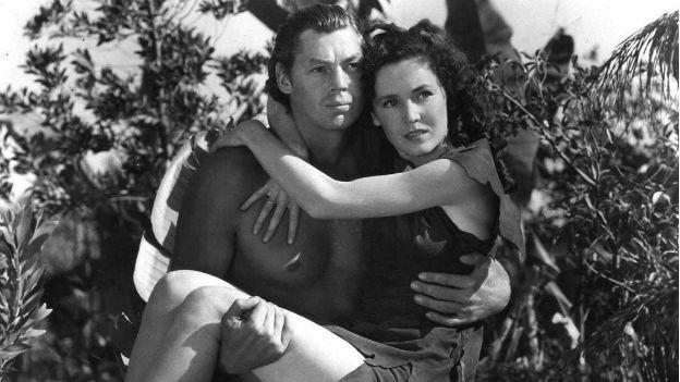 Johnny Weissmüller alias «Tarzan», mit seiner Jane.