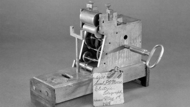 Morseapparat von Samuel Morse 1849